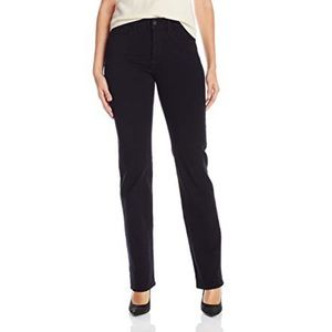 NYDJ Marilyn Straight Leg Jeans Black Size 6 NWT